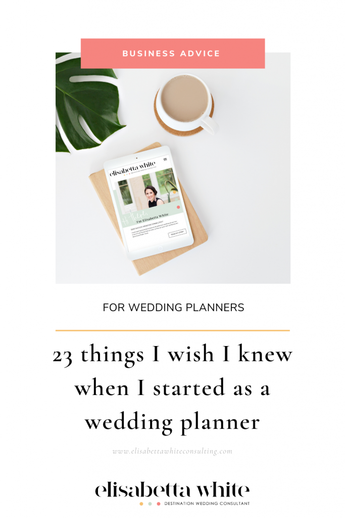 Business advice for new destination wedding planners