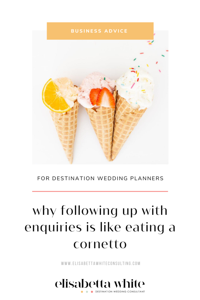 Business advice for destination wedding planners on following up with enquiries